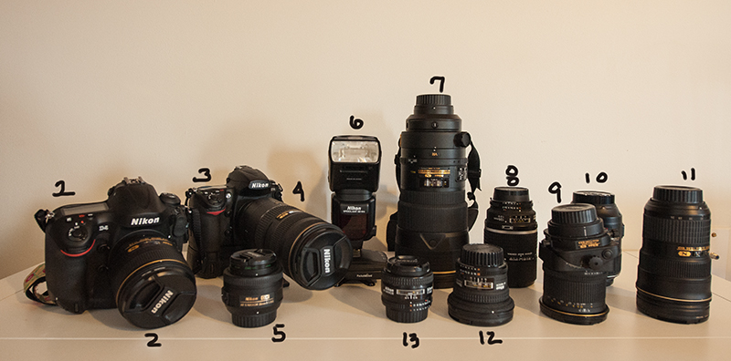 Nikon Camera bodies and Lenses