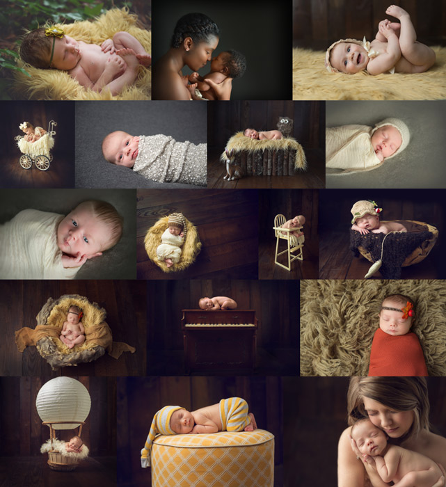 Charlotte-baby-photographer-grouping-of-newborns